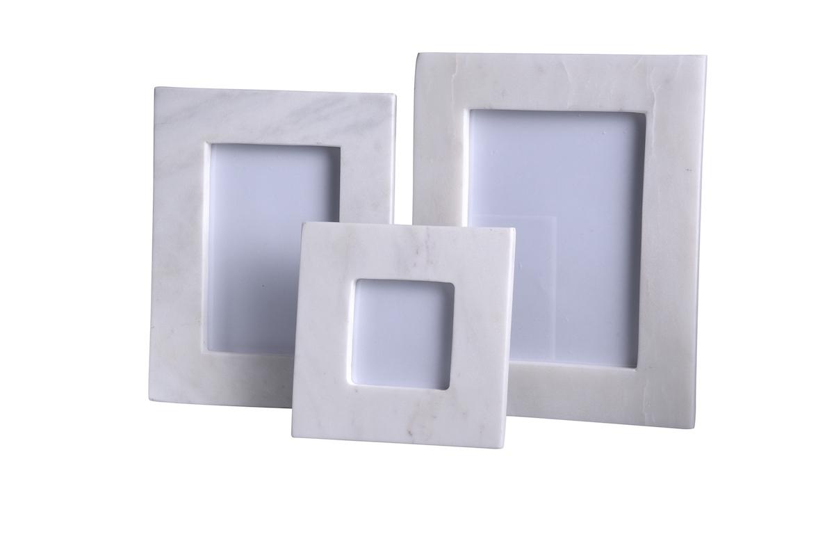 Marble Frame White | alvaluz.com