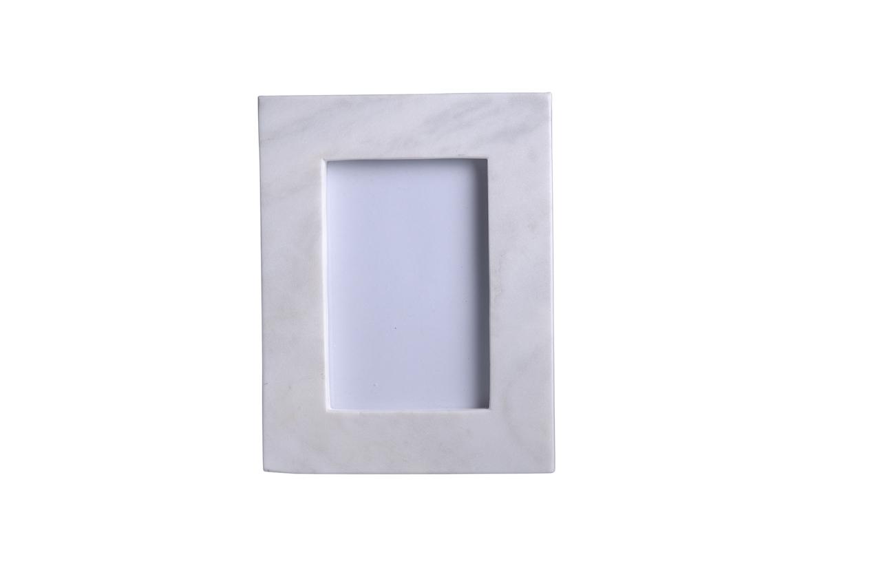 Marco de mármol blanco para fotografía | alvaluz.com