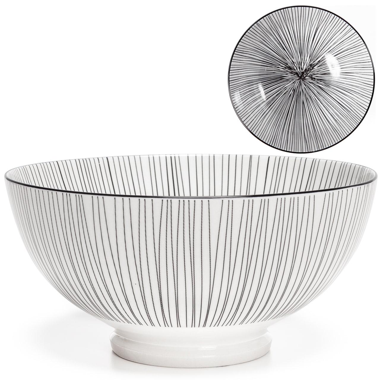 Kiri Porcelain Bowls - Black Line | alvaluz.com