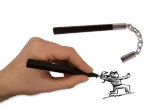 Nunchuck Pens | alvaluz.com