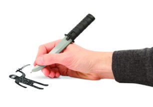 Ninja Pen with Shhinng Sound | alvaluz.com