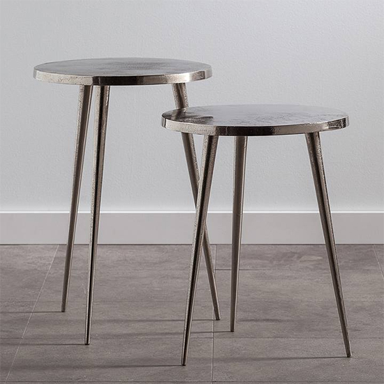 Lex Aluminum Pin Leg Nested Tables | alvaluz.com