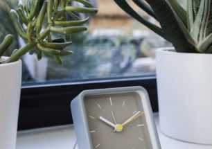 Alarm Clock With Stand Grey | alvaluz.com