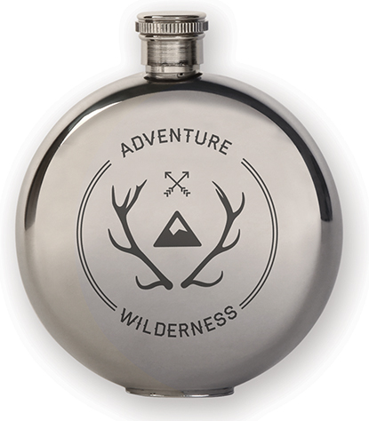 Flask + Wilderness Badge (Adventure Canteen Flask Small) | alvaluz.com