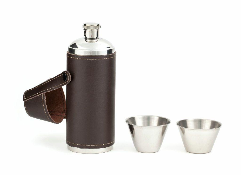BA58 Termo para bebidas cubierto en piel | alvaluz.com
