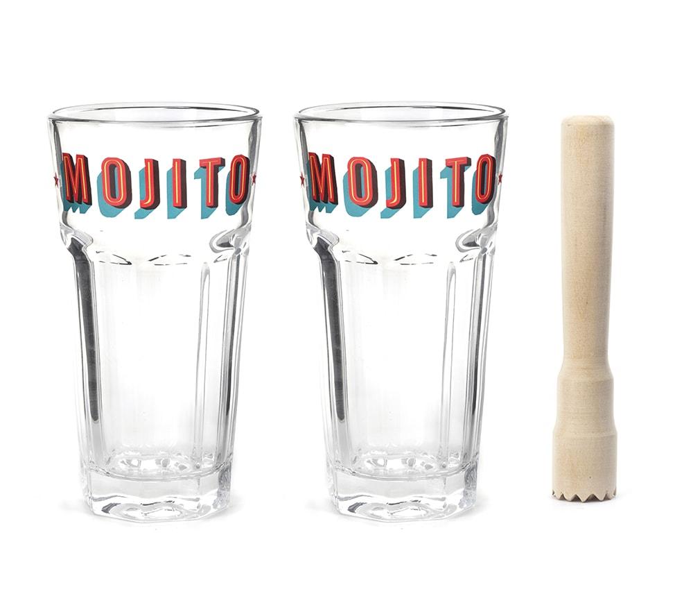 BA63 Mojito Glass Set And Muddler | alvaluz.com