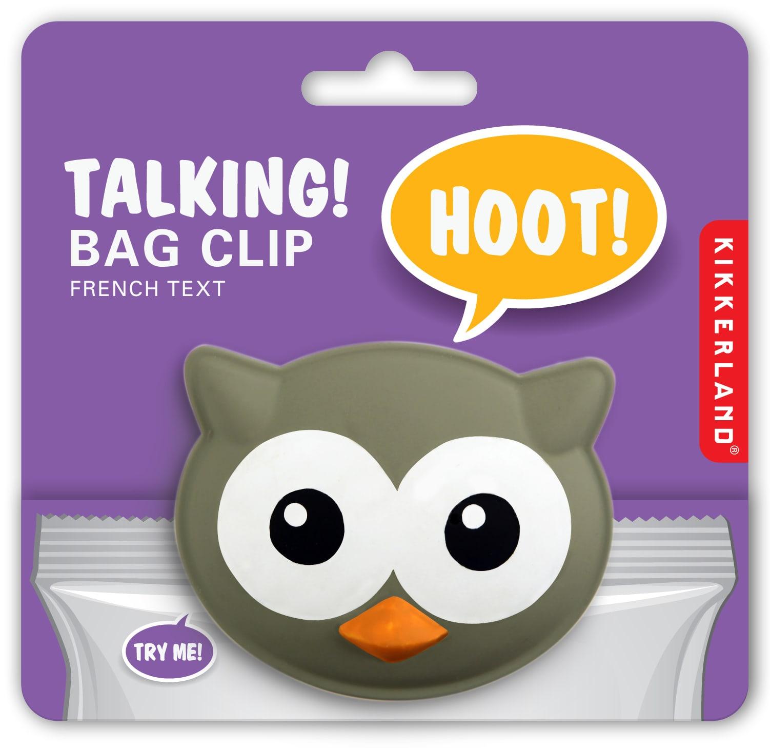 BC00 Bag Clip + Talking Owl | alvaluz.com