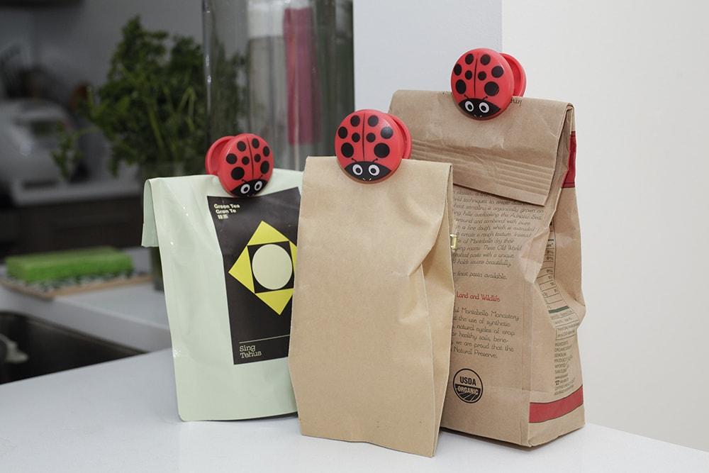 BC22 Ladybug Bag Clips Set de 6 | alvaluz.com