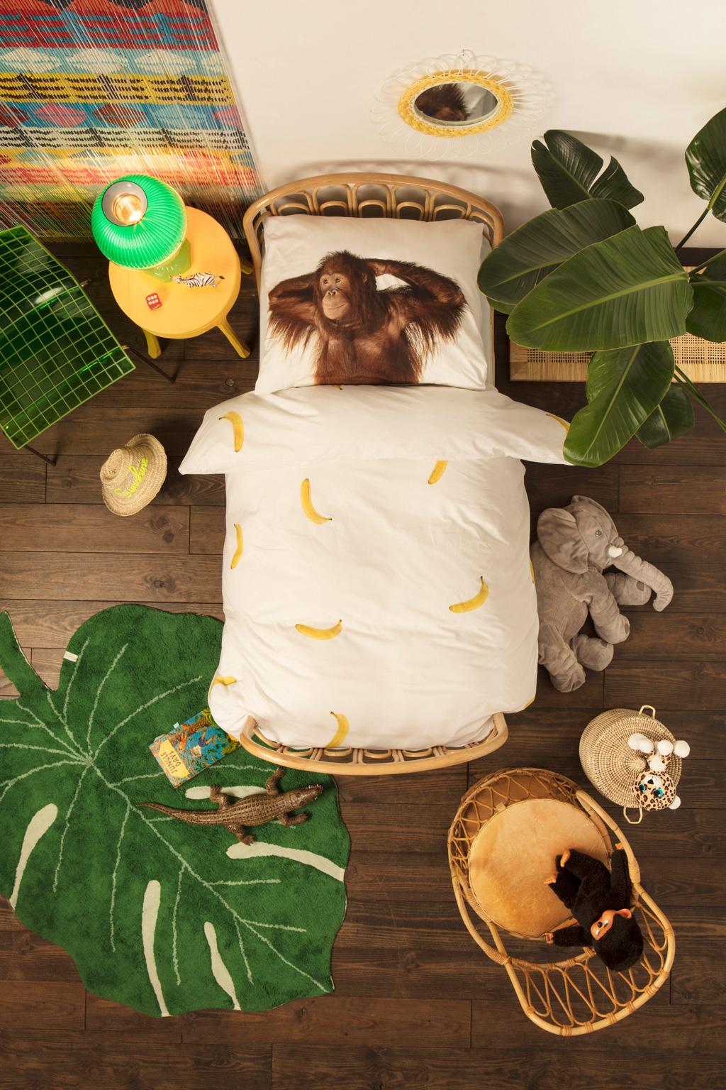 Banana Monkey duvet cover | alvaluz.com