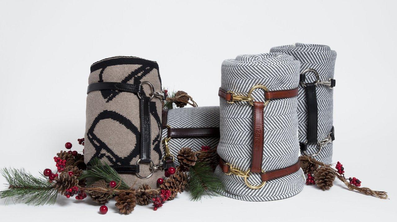 Portador de cobija de cuero reciclado | alvaluz.com
