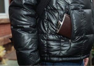 BA61-S Leather Hip Flask 6 oz | alvaluz.com