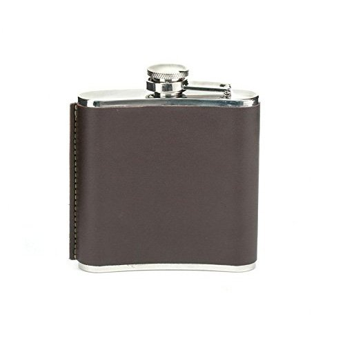 BA61-S Leather Hip Flask 6 oz | alvaluz.com