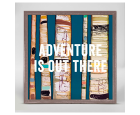 Adventure is out there (15x15 cm) $892.00 | alvaluz.com