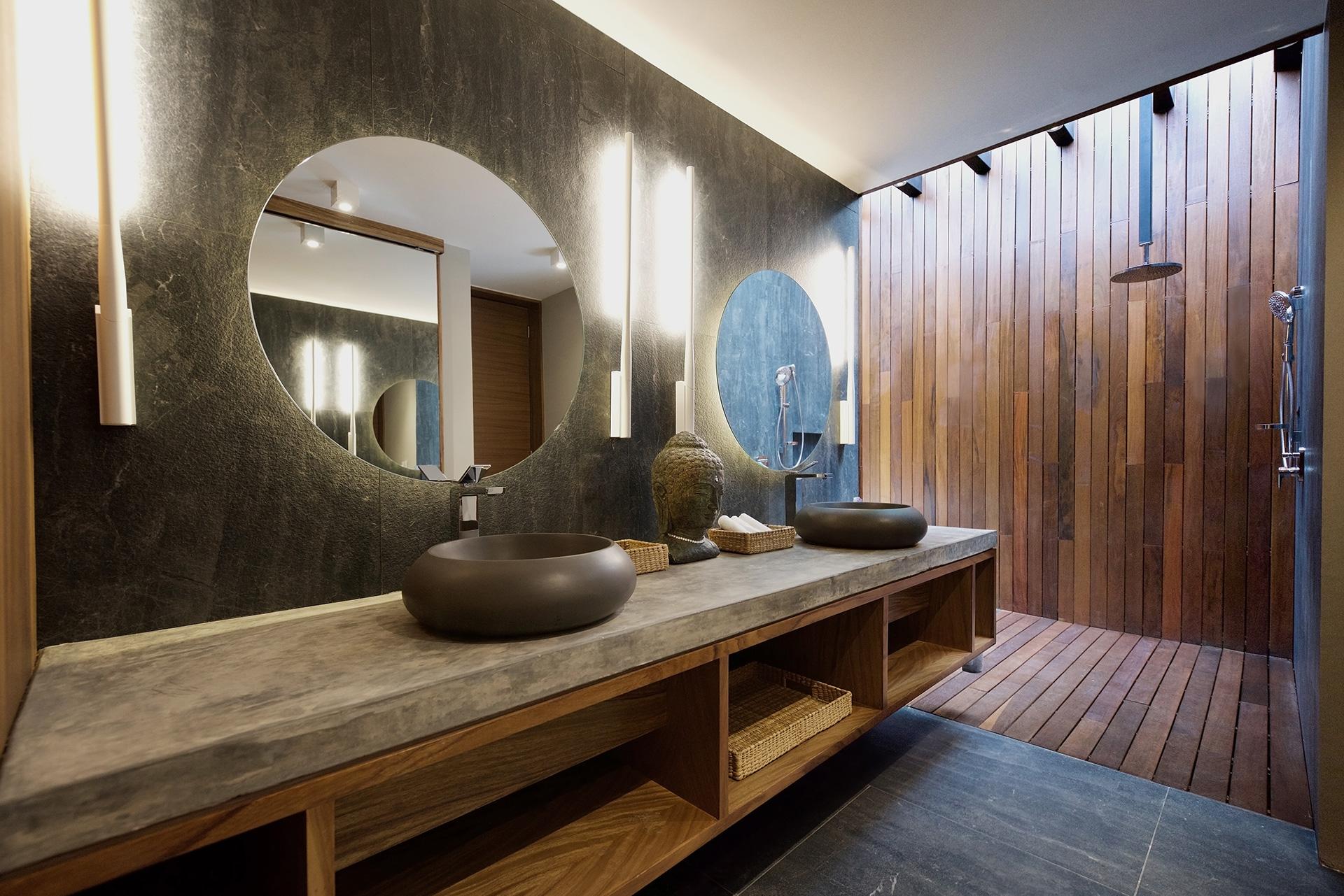 Villas Tres Marías - baño principal diseñada por Alvaluz | alvaluz.com