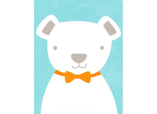 Bow tie teddy blue (36x46cm) | alvaluz.com