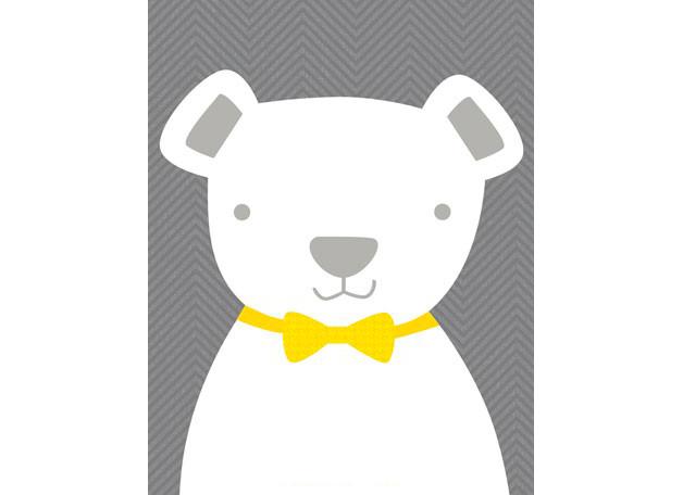 Bow tie teddy gray (36x46cm) | alvaluz.com