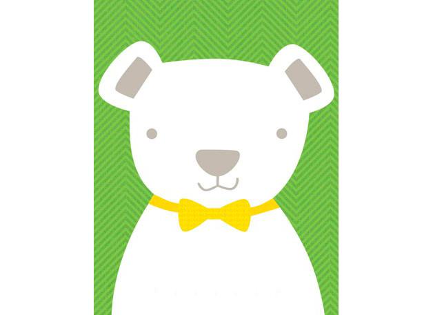 Bow tie teddy green (36x46cm) | alvaluz.com