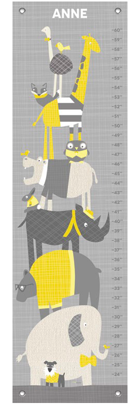Happy animal herd gray and yellow | alvaluz.com
