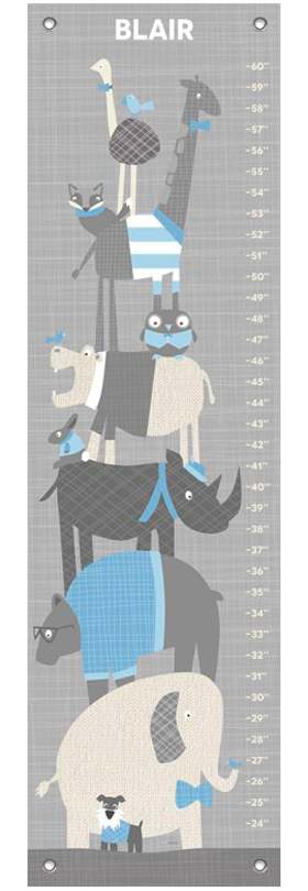 Happy animal herd gray and blue | alvaluz.com