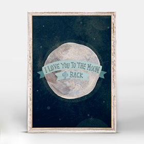 I love you to the moon blue (14x18 cm) | alvaluz.com