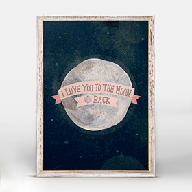 I love you to the moon pink (14x18 cm) | alvaluz.com
