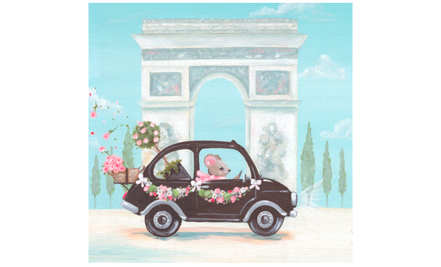 Little Black Car (36x36cm) | alvaluz.com