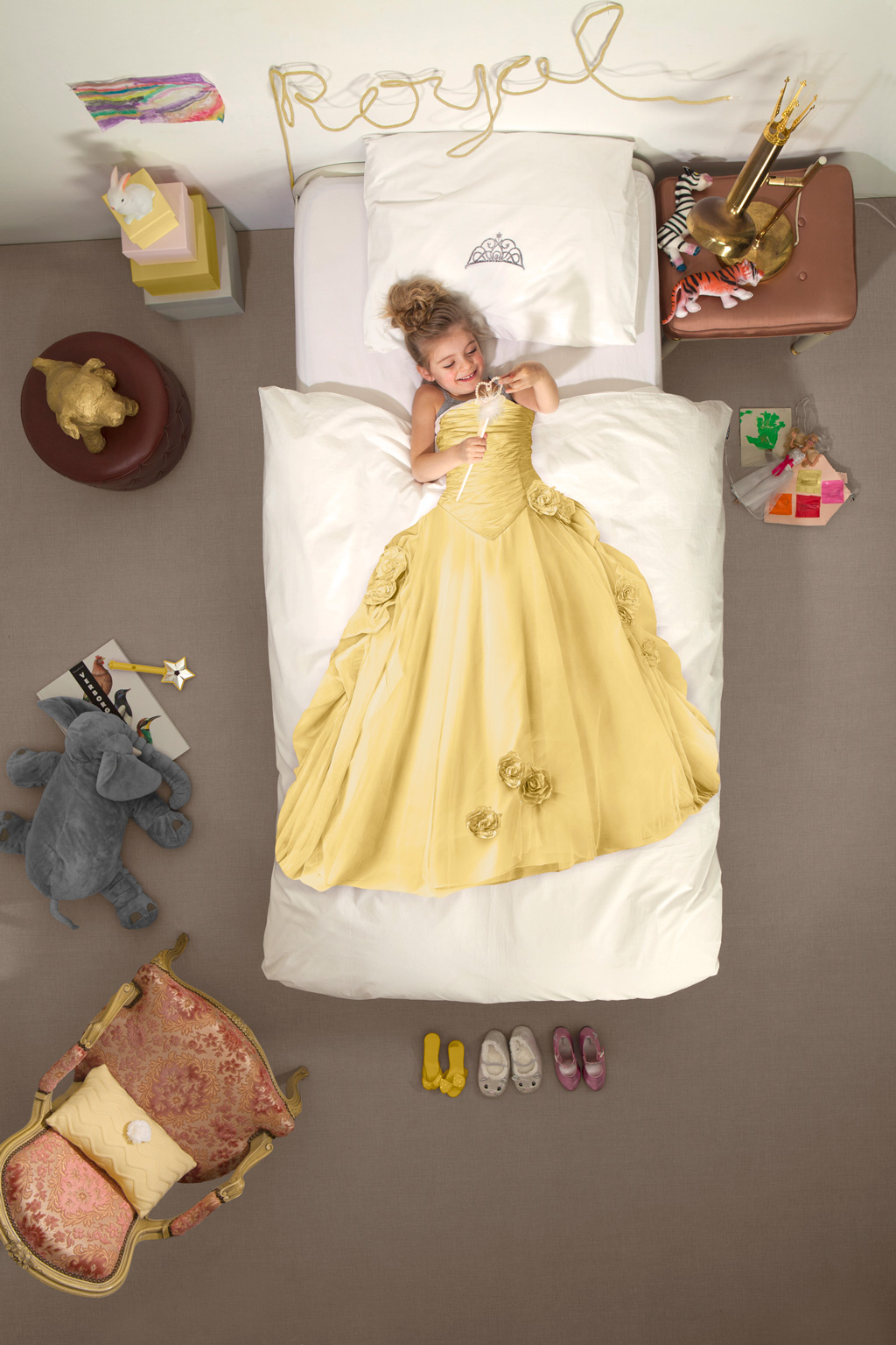Princes yellow duvet cover | alvaluz.com