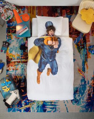 Superhero blue duvet cover | alvaluz.com