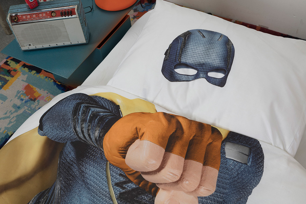Superhero blue duvet cover | alvaluz.com