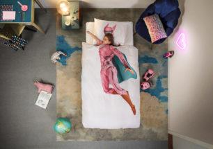 Superhero pink duvet cover   alvaluz.com