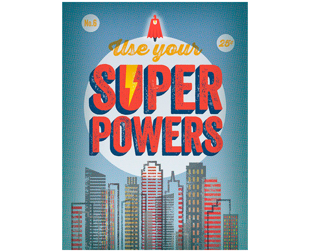 Use your super powers blue (46x36cm) $ 2677.00 | alvaluz.com