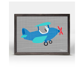 Ways to Wheel - little plane (18x14cm) | alvaluz.com