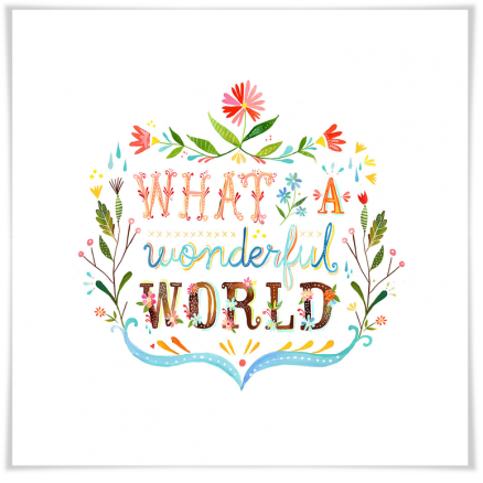 What a wonderful world (art prints 48x48 cm) $ 1755.00 | alvaluz.com